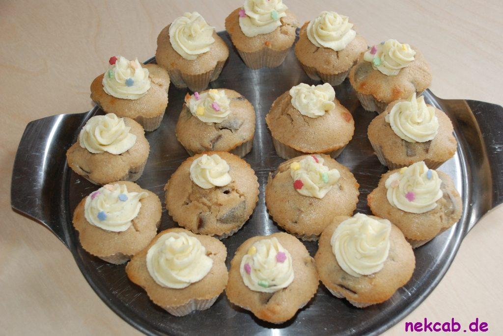 Pflaumen-Zimm-Vanille-Cupcake - 1