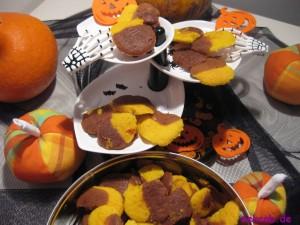 1 - Orange-Schwarze-Kürbis-Plätzchen