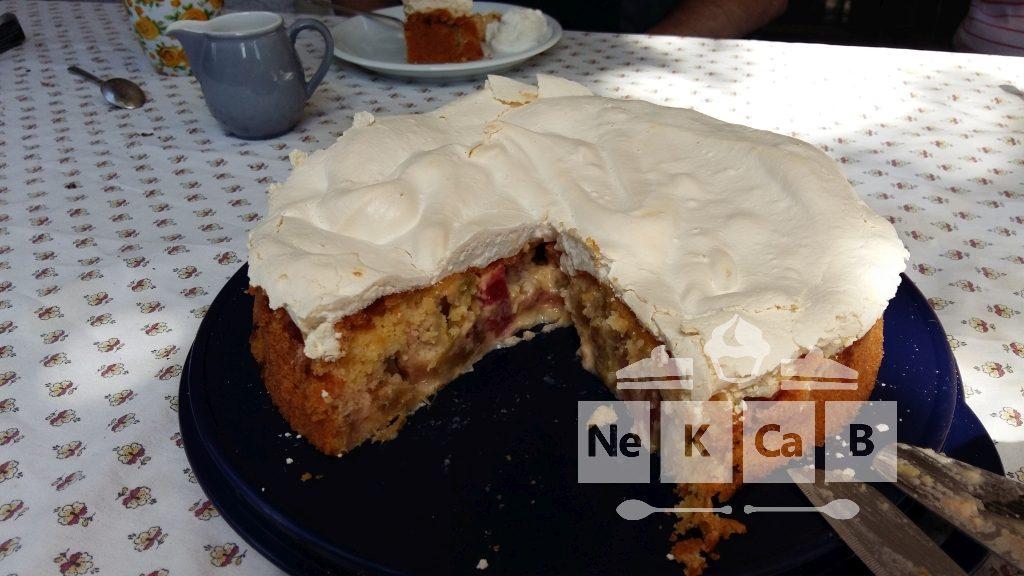Rhabarberkuchen mit Baiserhaube - 3